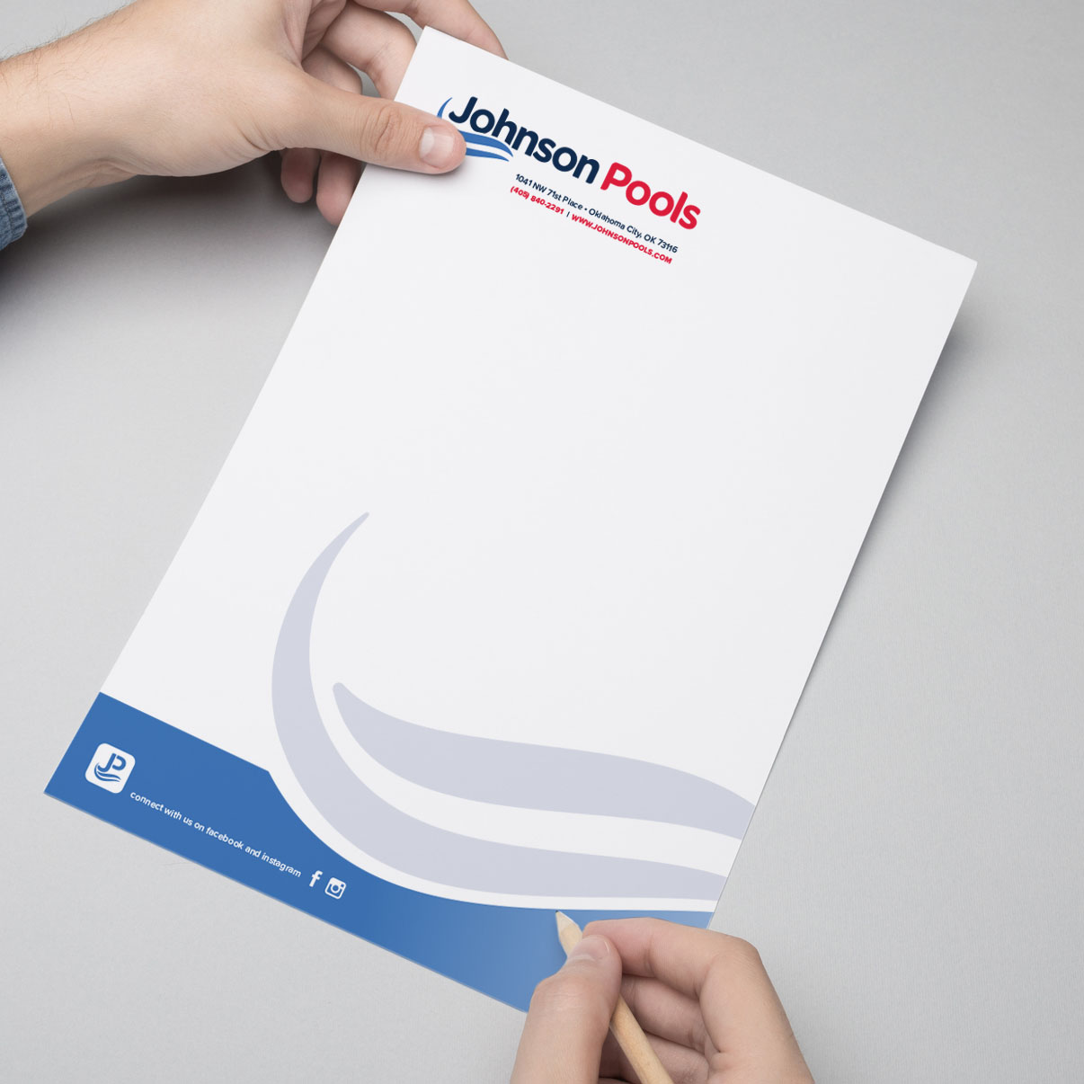 Letterhead Design - Johnson Pools