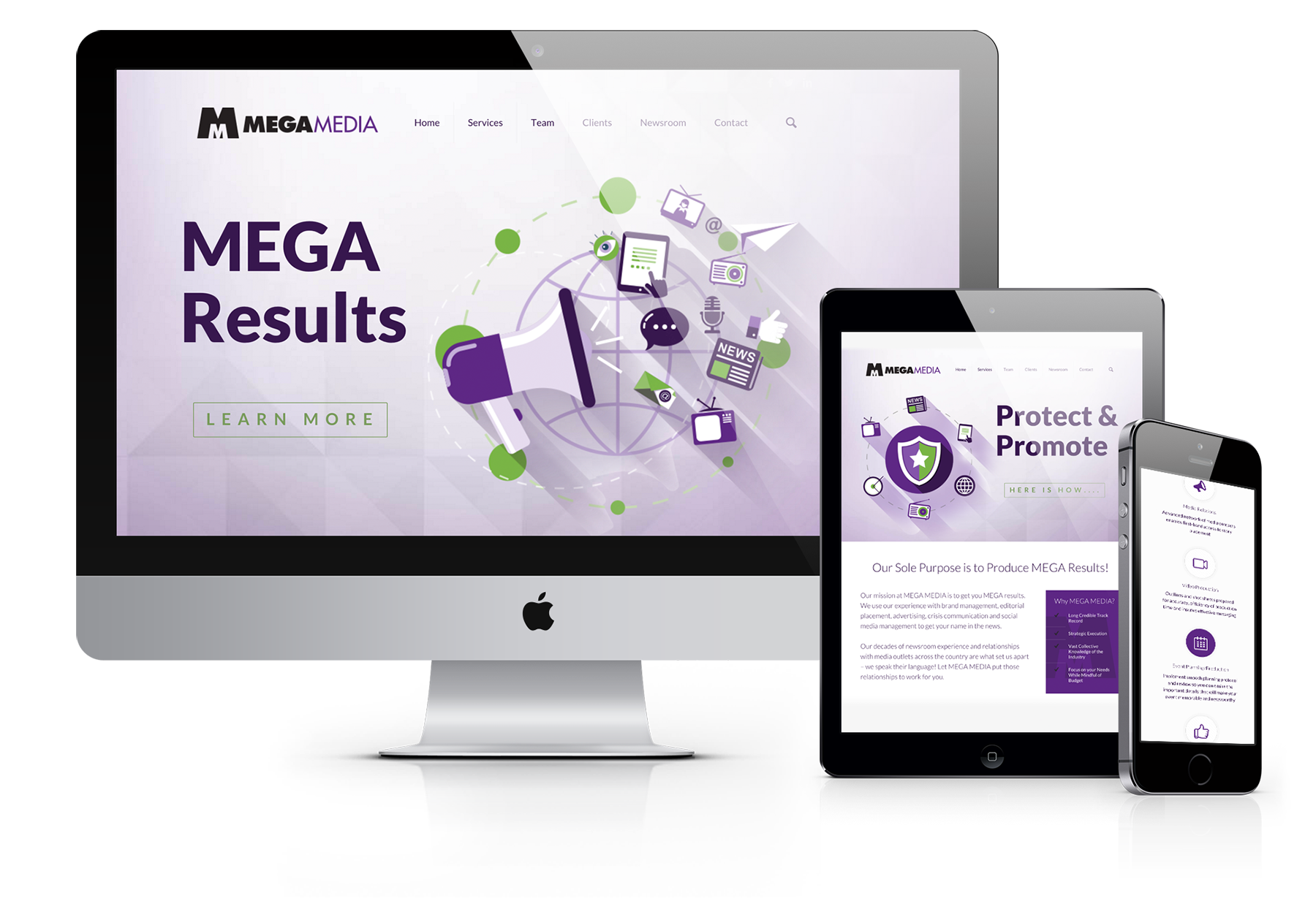 Mega Media - Website