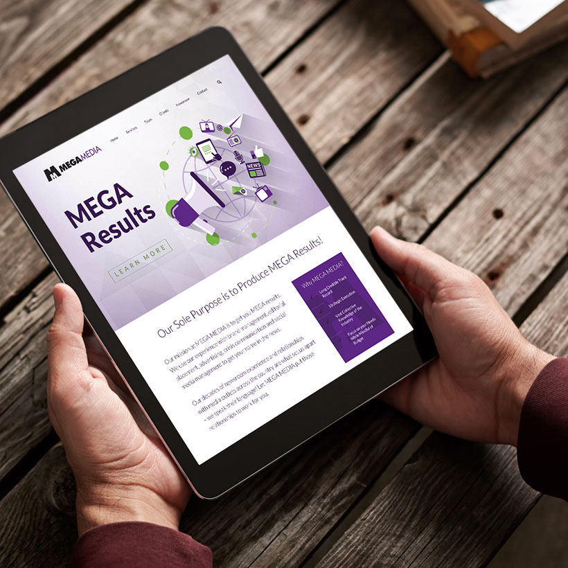 Mega Media Website Design