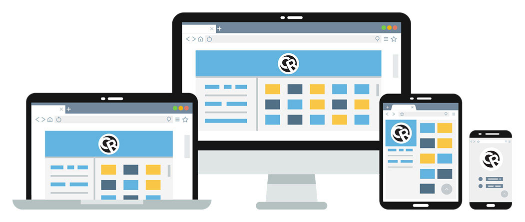 responsive illustration - web design copy